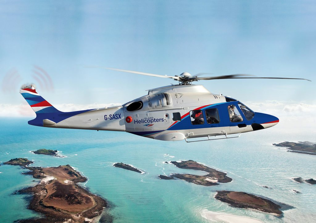 SAS commences its first passenger operation with an AW 169 provided on behalf of Skybus to the Isles of Scilly from Lands End.